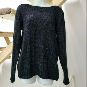 Vero Moda L Boatneck Blue Knit Sweater